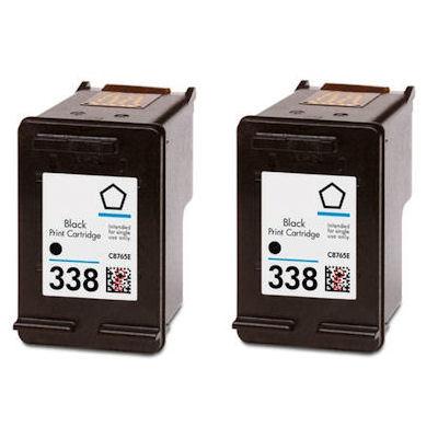 2x hp 338 black ink cartridge for photosmart 2570 2575 2610 2710 printer. Black Bedroom Furniture Sets. Home Design Ideas