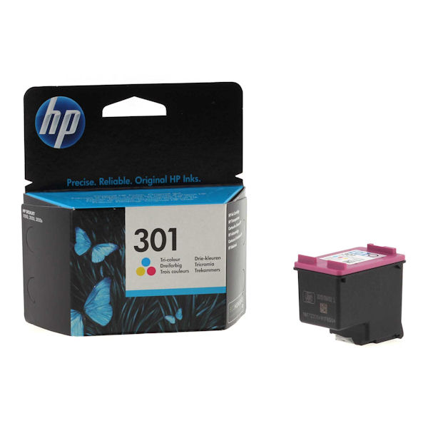original boxed hp 301 colour ink cartridge for deskjet 2542 inkjet printer ebay. Black Bedroom Furniture Sets. Home Design Ideas