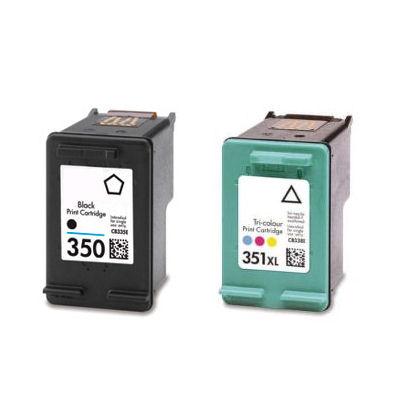 350 black 351xl colour ink cartridge for hp photosmart c4580 printer ebay. Black Bedroom Furniture Sets. Home Design Ideas