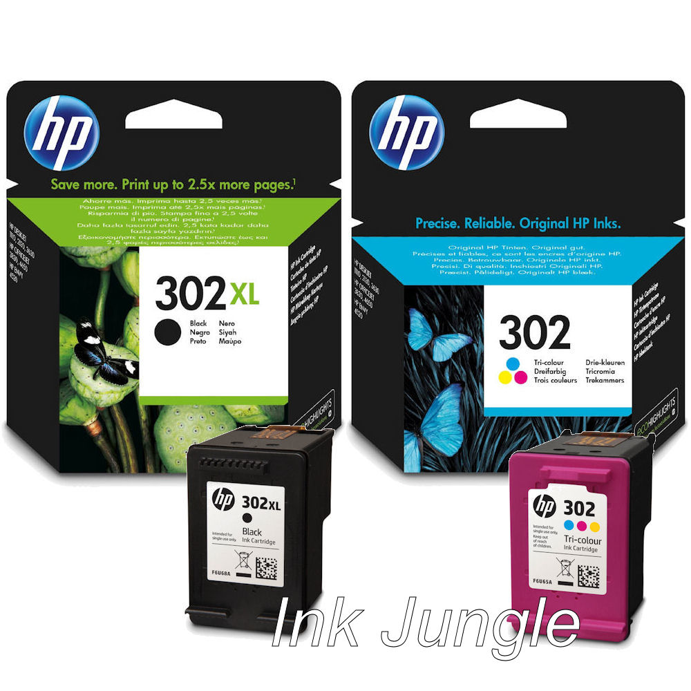 302xl black 302 colour ink cartridge for hp officejet 3630 printer ebay. Black Bedroom Furniture Sets. Home Design Ideas